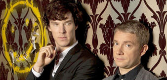 Benedict Cumberbatch und Martin Freeman in Sherlock