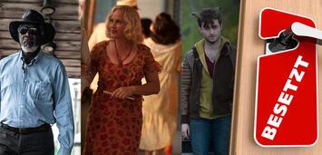 Bild zu:  Morgan Freeman in Transcendence / Patricia Arquette in Boardwalk Empire / Daniel Radcliffe in Horns