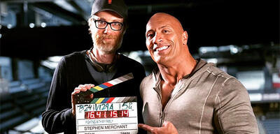 Dwayne Johnson und Stephen Merchant
