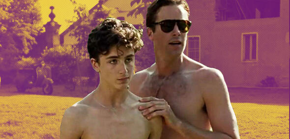 Timothée Chalamet (Mitte) und Armie Hammer (rechts) in Call Me by Your Name