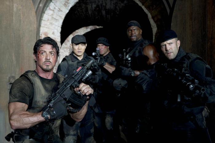 The Expendables mit Jason Statham, Sylvester Stallone, Jet Li und Terry Crews