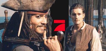 Bild zu:  Fluch der Karibik mit Johnny Depp und Orlando Bloom auf ProSieben