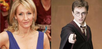 J.K. Rowling & Daniel Radcliffe als Harry Potter