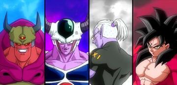 Majin Ozotto, King Cold, Fu und Son-Goku: Xeno