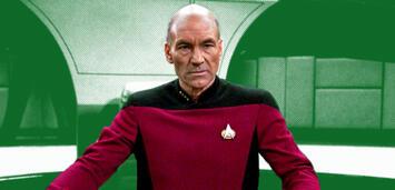 Bild zu:  Patrick Stewart als CaptainJean-Luc Picard