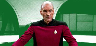 Patrick Stewart als CaptainJean-Luc Picard