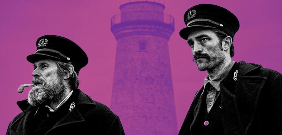 Willem Dafoe und Robert Pattinson in The Lighthouse