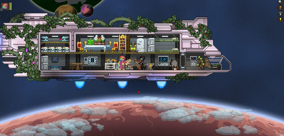 Formschön im klassischen Pixel-Look: Starbound