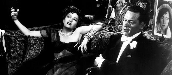 Gloria Swanson und William Holden in Boulevard der Dämmerung