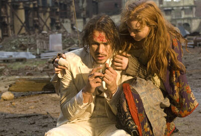 Heath Ledger und Lily Cole
