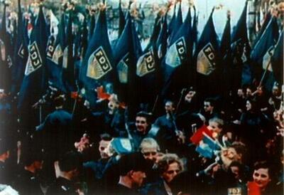 Parade zum 40. Jahrestag FDJ