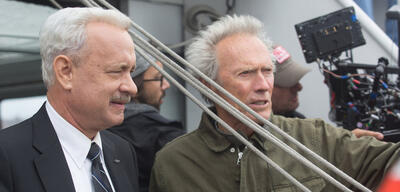 Clint Eastwood am Set von Sully