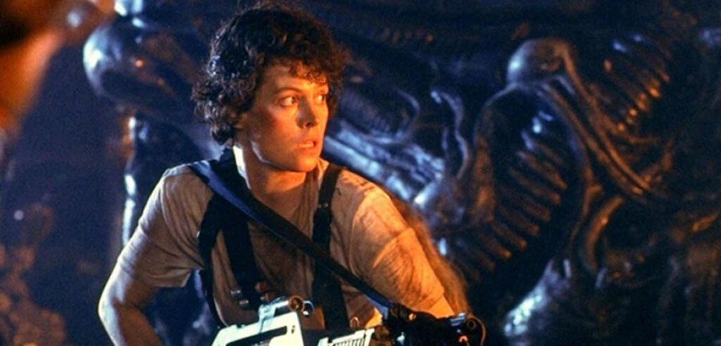 Sigourney Weaver als Ellen Ripley in Aliens - Die Rückkehr