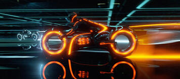 Light Cycle in Tron Legacy