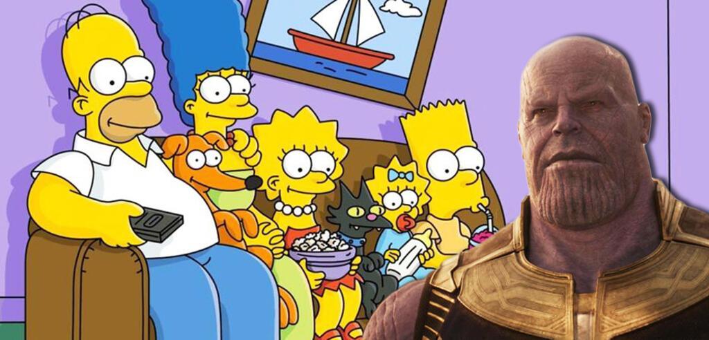 Thanos bei den Simpsons