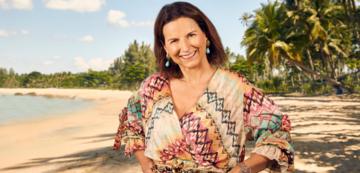 Claudia Obert in Promis unter Palmen