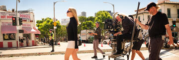 Margot Robbie am Set von Once Upon a Time … in Hollywood
