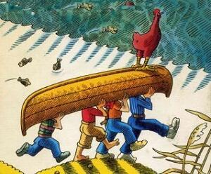 Flussfahrt Mit Huhn