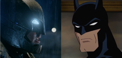 Realfilm- gegen Zeichentrick-Batman