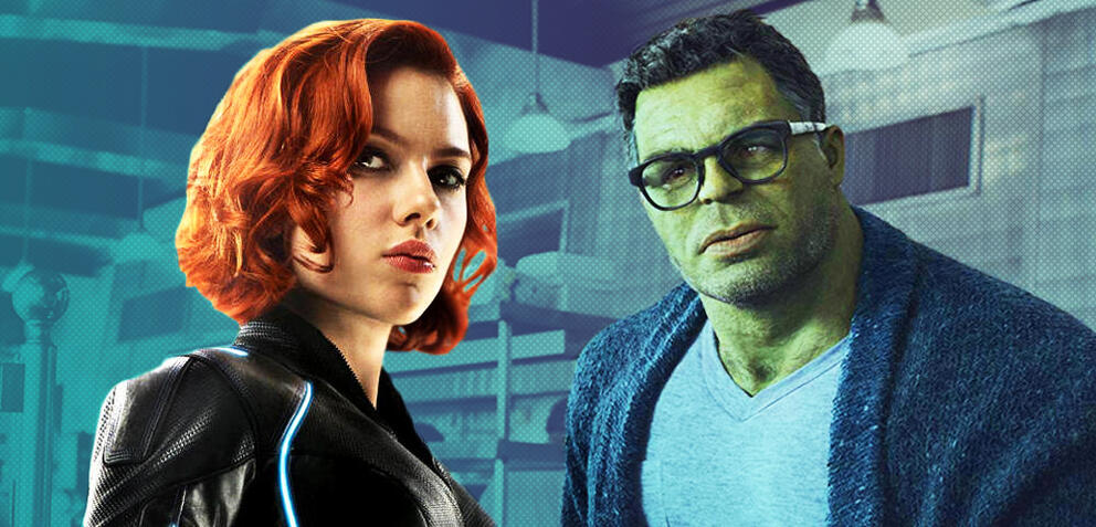 Black Widow und Hulk