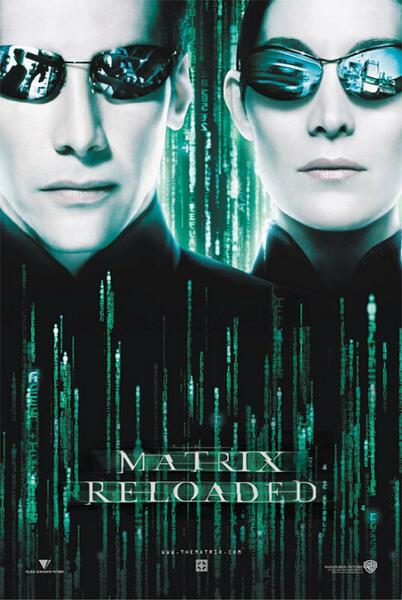 Matrix Reloaded mit Keanu Reeves und Carrie-Anne Moss