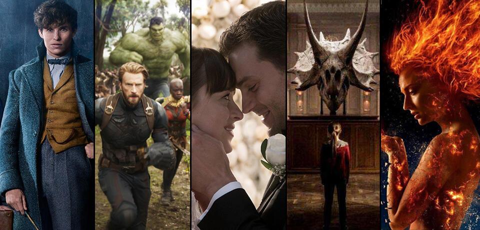 Sequels 2018: Phantastische Tierwesen 2, Avengers 3, Fifty Shades 3, Jurassic World 2, X-Men: Dark Phoenix