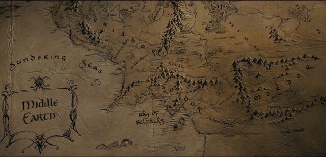 Mittelerde Karte Herr Der Ringe.Neue Erkenntnisse Mittelerde Karte Mit Anmerkungen Von