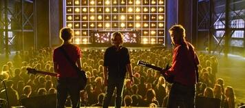 Edgar Wright, Michael Cera und Mark Webber am Set von Scott Pilgrim vs. the World