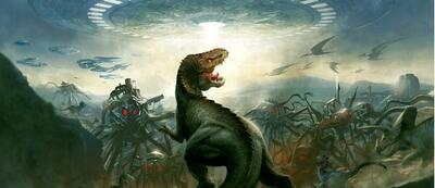 Dinosaurier werden von einer Alien-Invasion überrascht