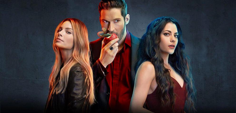Lucifer mit Chloe und Eve