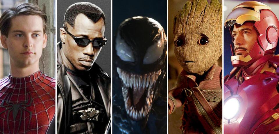 Spider-Man, Blade, Wolverine, Venom, Iron Man