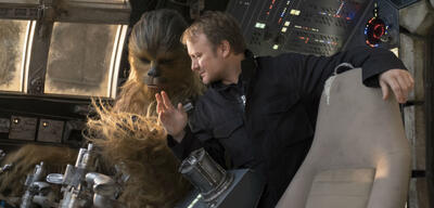 Rian Johnson am Set von Star Wars
