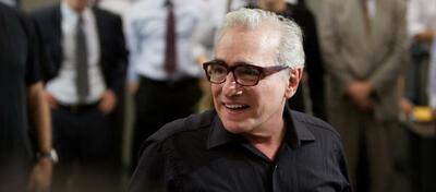 Martin Scorsese am Set von The Wolf of Wall Street