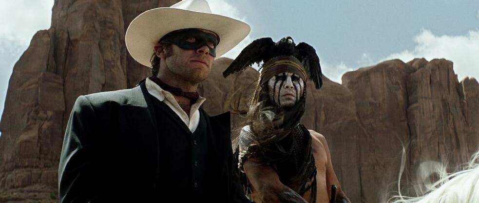 Lone Ranger mit Johnny Depp und Armie Hammer