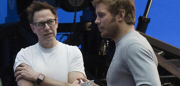 James Gunn (links) am Set von Guardians of the Galaxy Vol. 2