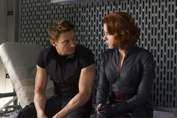 Jeremy Renner und Scarlett Johansson als Hawkeye und Black Widow