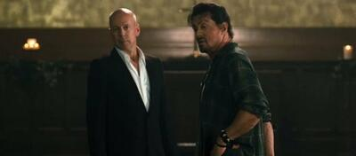 Gegner im Sequel? Bruce und Sly in The Expendables