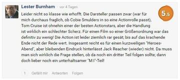 Kommentar von Lester Burnham
