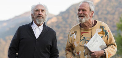 Jonathan Pryce und Terry Gilliam bei den Dreharbeiten zu The Man Who Killed Don Quixote