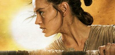 Daisy Ridley als Rey auf Star Wars 7-Promo