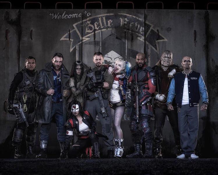 Suicide Squad mit Margot Robbie, Joel Kinnaman, Jai Courtney und Karen Fukuhara