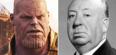 Thanos und Alfred Hitchcock