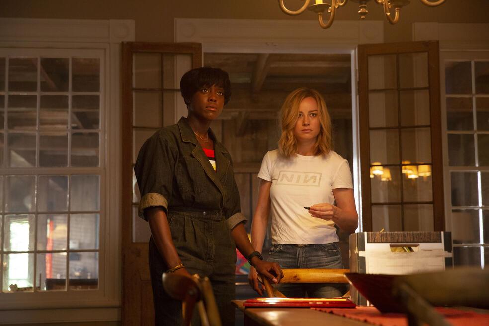 Captain Marvel mit Brie Larson und Lashana Lynch