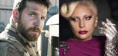 Bradley Cooper in American Sniper/Lady Gaga in American Horror Story