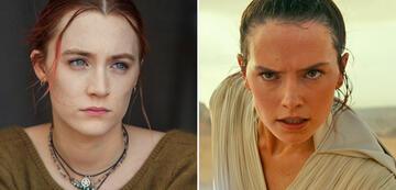 Saoirse Ronan in Lady Bird/Daisy Ridley als Rey