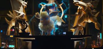 Evoli entwickelt sich zu Flamara in Pokémon Meisterdetektiv Pikachu