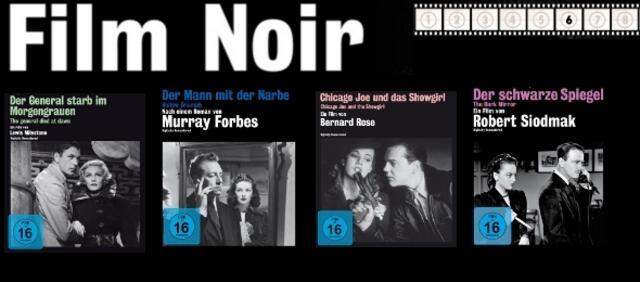 7 Film noir-Klassiker auf DVD