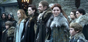 Game of Thrones: Rickon steht abseits der anderen Stark-Kinder