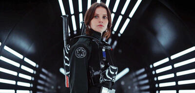 Felicity Jones als Jyn Erso in Rogue One: A Star Wars Story