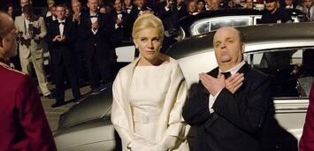 Bild zu:  Toby Jones als Alfred Hitchcock und Sienna Miller als Tippi Hedren